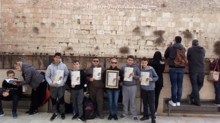 """בית ספר """"מקיף ד""""  כיתה ז'1 בסיור """"ירושלים שלי"""" ביום העירוני של אשקלון"""