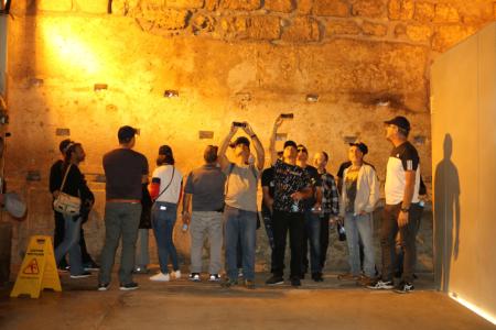עובדי חברת מקורות בסיור במנהרות הכותל המערבי