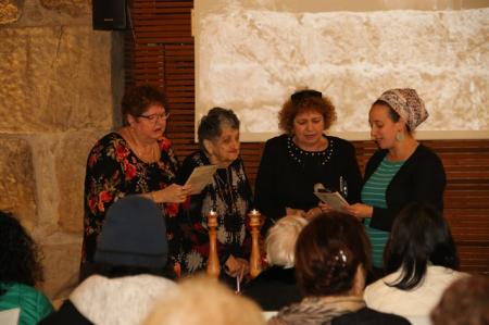 בת מצווה לניצולות השואה מחולון בכותל המערבי