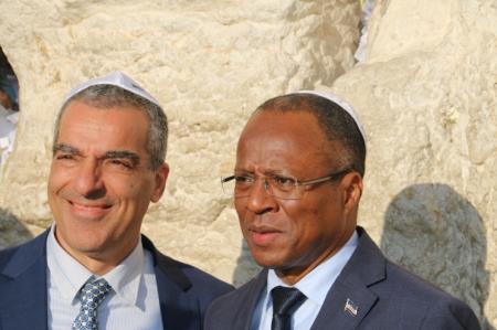 ביקור משלחת ראש ממשלת כף ורדה בכותל המערבי