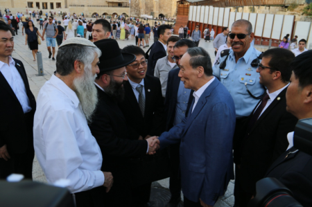 ביקור סגן נשיא סין בכותל המערבי