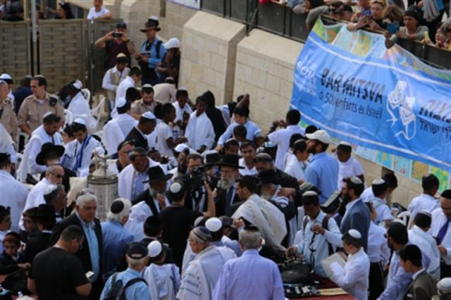 בר מצווה לחמש מאות ילדי ישראל מצרפת