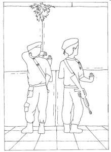 חיילים בתפילה בכותל המערבי