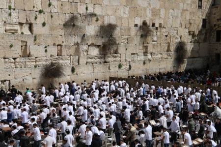הישיבה התיכונית רמת גן בתפילה בכותל המערבי