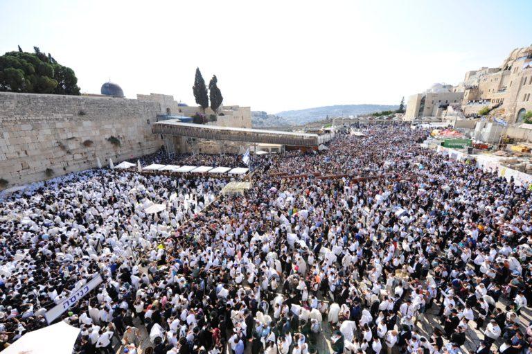 60 אלף איש השתתפו בברכת כהנים של מוסף