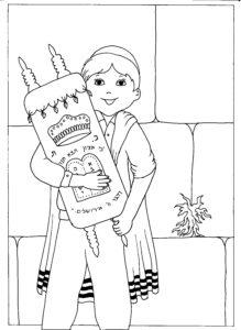 נער בר מצווה עם ספר תורה בכותל המערבי