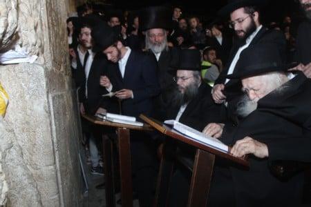 """ביקור רבנים ואדמורים ביום ג'  חול המועד סוכות תשע""""ט"""