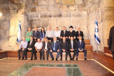 ישיבת ממשלה במנהרות הכותל המערבי