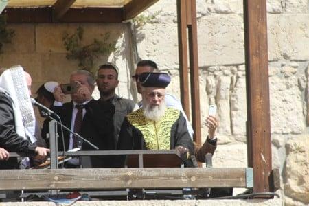"""הרב יצחק יוסף בכותל המערבי חול המועד פסח תשע""""ח"""