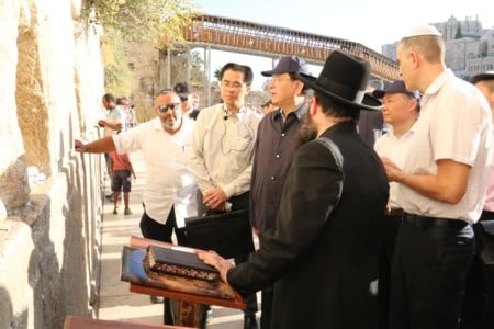Chinese Parliament Speaker visited the Western Wall
