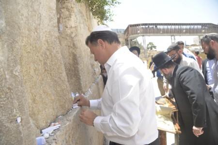 נשיא פנמה בביקור בכותל המערבי