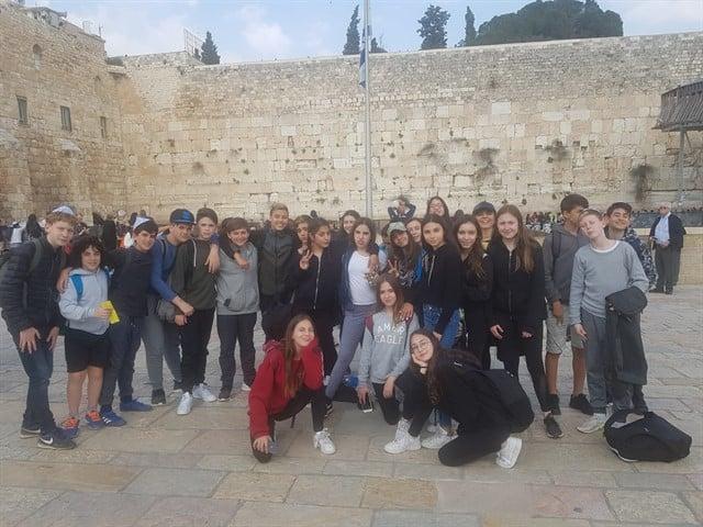 """ילדי כיתות ז' מבית ספר זאב מהרצליה עלו לירושלים במסגרת התוכנית """"ירושלים שלי"""""""