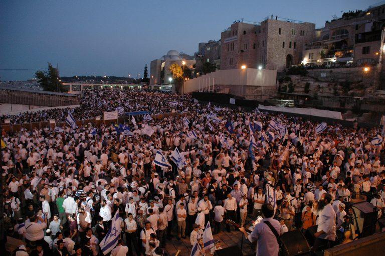 משדר מיוחד יום ירושלים ותפילה חגיגית ברחבת הכותל המערבי