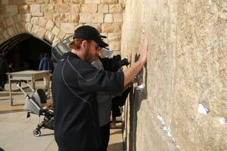 Actor Chuck Norris visited the Western Wall