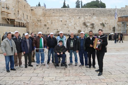 Bar & Bat Mitzvah for Holocaust survivors from Jerusalem at the Western Wall