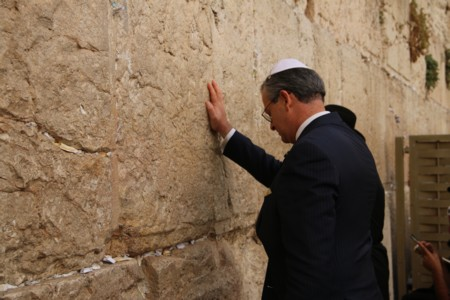 The Minister of Foreign Affrairs of Costa Rica visited the Western Wall