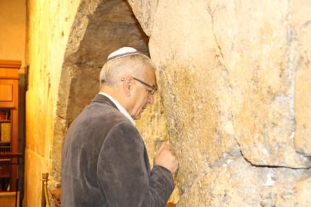 Professor Shlomo Mor Yosef visited the Western Wall