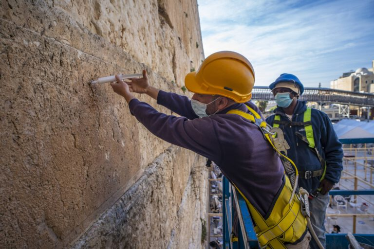 Amid the Covid-19 pandemic, the health of the Western Wall stones is also being cared for